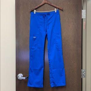 Royal blue Cherokee brand scrub pants size small